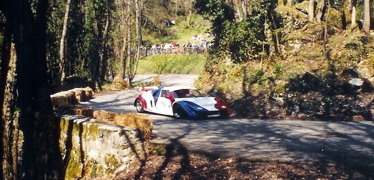 Roger Lhermet à la première montée de course